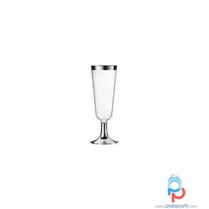 bicchieri plastica bordo argento