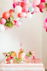 decorare festa palloncini