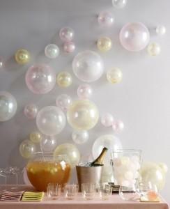 decoro palloncini parete