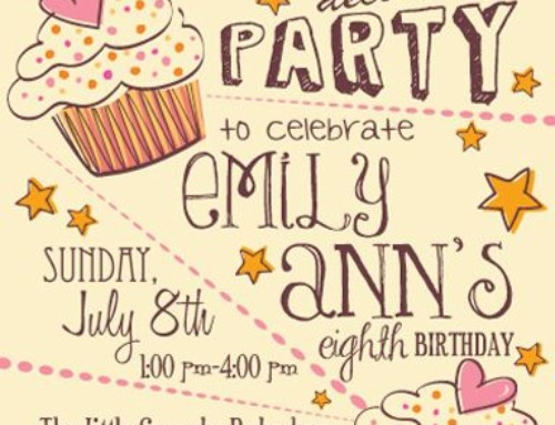 Un cartellone da appendere alla scuola materna per invitare gli amici alla festa di compleanno