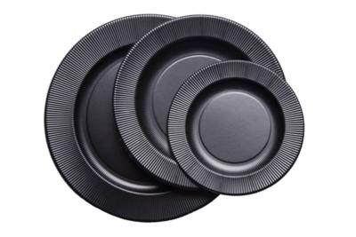 palaparty piatti righe neri